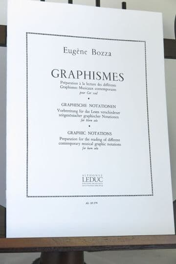 Bozza E - Graphismes (Graphic Notations) for Solo Horn